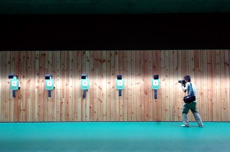图文:08奥运射击馆正式交付 记者在10米靶赛场