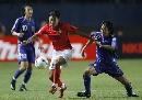 图文:[亚洲杯]日本5-6(点)韩国 朴智星突破