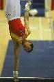 图文:体操世界杯上海站 肖钦单臂倒立