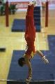 图文:体操世界杯上海站 小将邹凯在比赛中