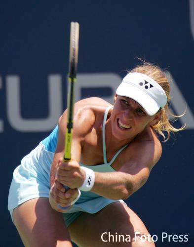 图文:阿库拉网球精英赛 德门蒂耶娃