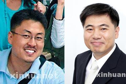 左图是30日被塔利班杀死的韩国人质沈圣珉,右图是25日被杀害的裴衡圭。