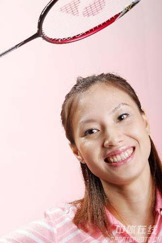 图文:2008奥运希望之星羽毛球谢杏芳 蜜桃女郎