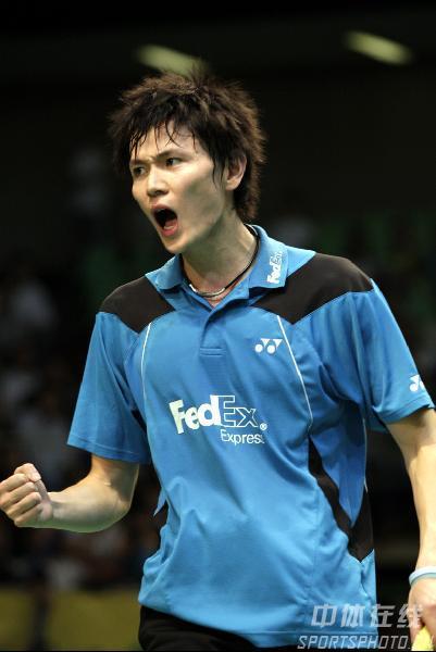 图文:2008奥运希望之星羽毛球鲍春来 自我鼓励