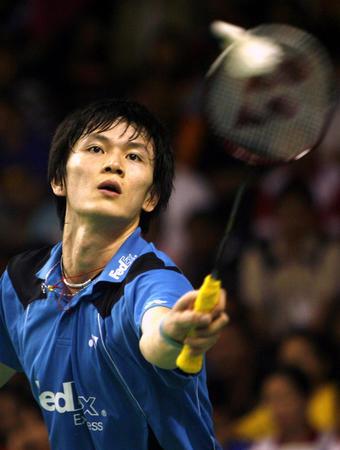 图文:2008奥运希望之星羽毛球鲍春来 克陶菲克