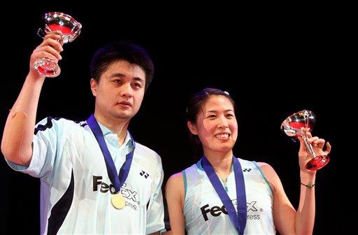 图文:2008奥运希望之星羽毛球混双 全英获冠军