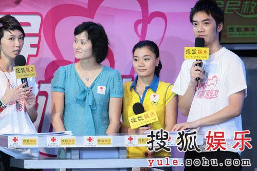 图:奥运冠军高敏莫慧兰参与义演 献出捐款-2