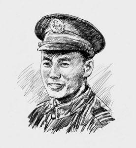 军人的画法铅笔画图片