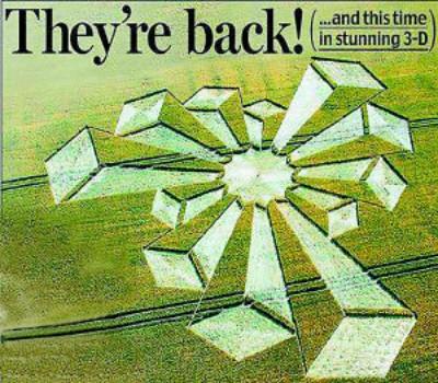 在英国出现的首例三维麦田怪圈酷似摩天大楼