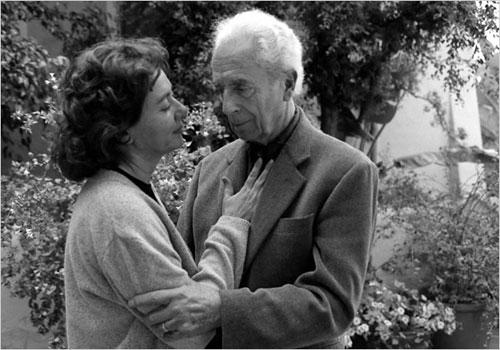 图:1995年安东尼奥尼和他的妻子