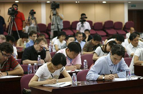 图文:体育总局介绍奥运备战情况 国内外记者