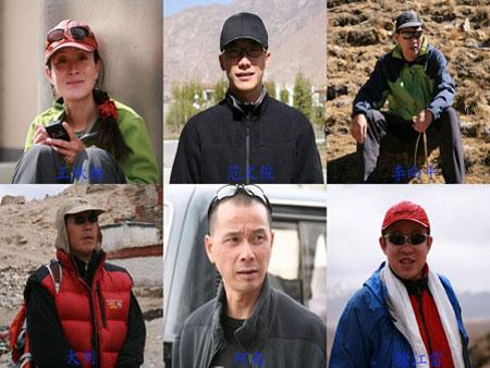 08-2007珠峰业余登山队成员