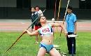 图文:全国田径锦标赛首金 憋足了劲