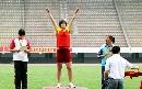 图文:全国田径锦标赛首金 昌春风标枪夺第一