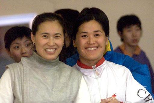 图文:1984-1996现役奥运冠军 栾菊杰会王会凤