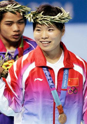 图文:2004年现役奥运冠军 陈艳青雅典夺冠
