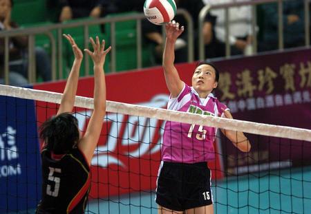 图文:2004年现役奥运冠军 陈静快球进攻