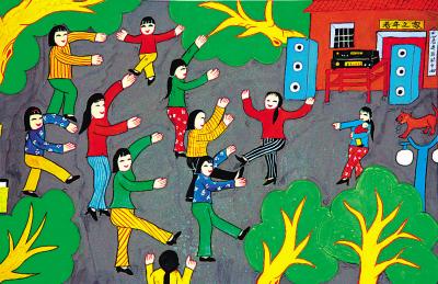美丽的街道儿童画
