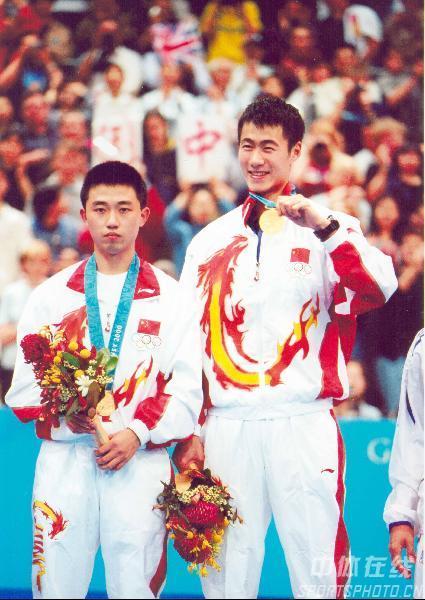 组图:2000年现役奥运冠军 励勤带闫森夺悉尼男双冠军