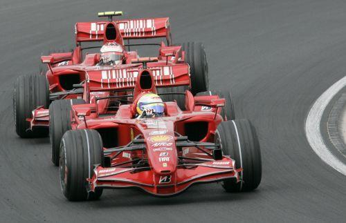 图文:[F1]匈牙利站次回练习 法拉利的内战