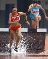 图文:田锦赛女子300米障碍跑 陕西朱艳梅夺冠