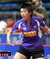 图文:乒超第十轮北京3比0重庆 丁宁侧身发球