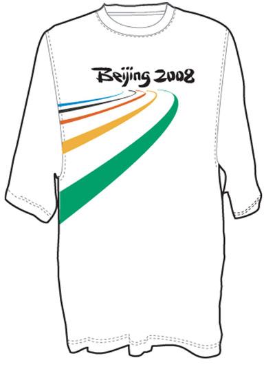 图文:倒计时周年新品限量推出 白色跑道文化衫