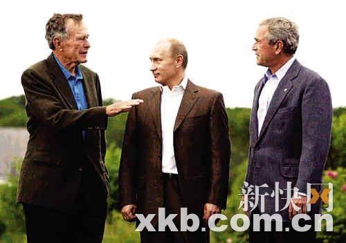布什父子7月在肯纳邦克波特接待了普京,8月又将迎来萨科齐?