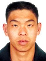 中国皮划艇队队员刘海涛
