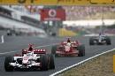 图文:[F1]匈牙利大奖赛正赛 马萨追赶佐藤