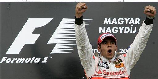 图文:[F1]匈牙利大奖赛正赛 胜利者的欢呼