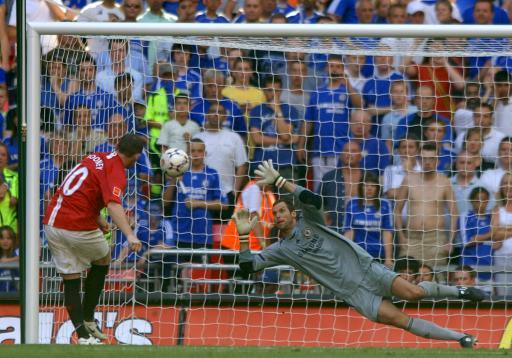 图文:社区盾杯曼联4-1切尔西 鲁尼绝杀的瞬间