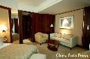 图文:姚明叶莉上海完婚 酒店卧室一角