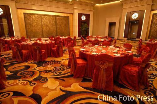 图文:姚明叶莉上海完婚 酒店婚宴大厅