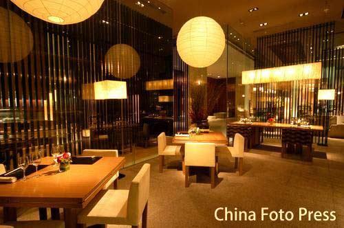 图文:姚明叶莉上海完婚 酒店餐厅