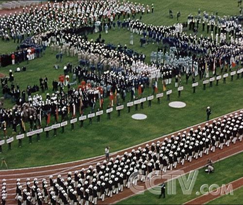 图文:CCTV《同一个梦想》 墨尔本奥运会开幕式