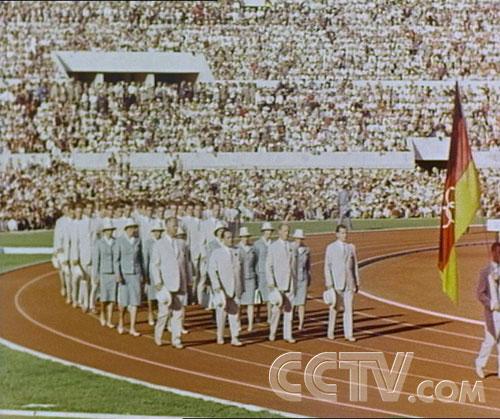图文:CCTV《同一个梦想》 慕尼黑奥运会开幕式