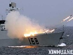 """""""和平使命-2005""""中俄联合军事演习"""