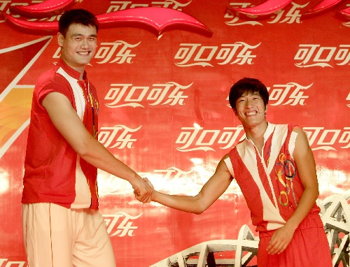 图文:北京奥运倒计时一周年活动 刘翔姚明出席
