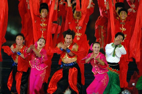 图文:北京邀请世界 天安门广场大型庆祝活动