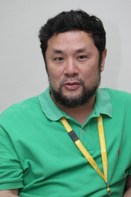 图文:探访开闭幕式运营中心 陈维亚接受采访