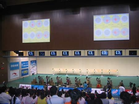 图文:中国射击队奥运选拔赛 决赛赛场万众瞩目