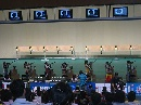 图文:中国射击队奥运选拔赛 众人期待比赛结果