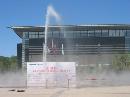 图文:中国射击队奥运选拔赛 赛场外的喷泉