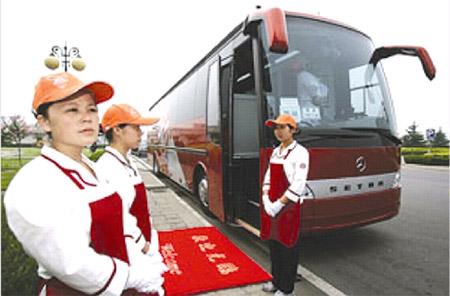 图为安徽安凯汽车股份有限公司生产的奥运餐车