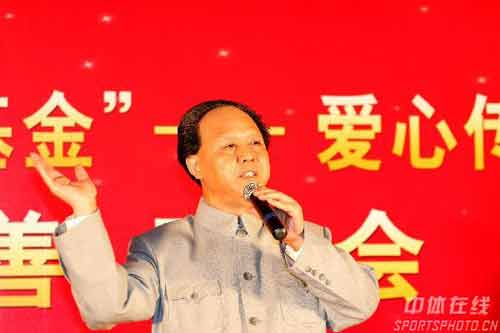 """组图:众明星出席奥运之星保障基金慈善拍卖会 """"毛泽东""""的特形演员马于飞"""