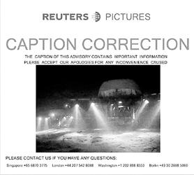 图为路透社对俄罗斯北极探险照片的更正说明。