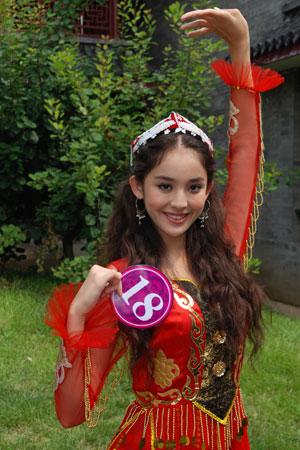 民族之花18号古丽娜扎---维吾尔族图片