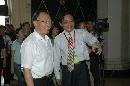 图文:中国体育用品博览会 刘鹏高兴的参观展会