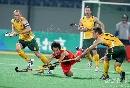 图文:曲棍球邀请赛澳大利亚男队夺冠 汗水四溅